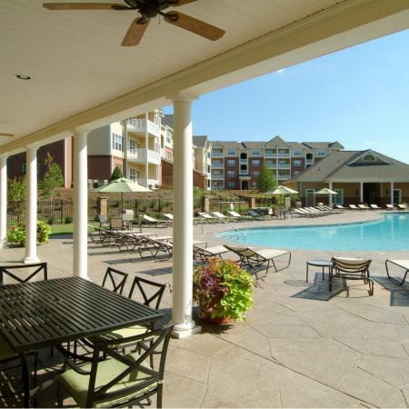 Covered patio at Colton Creek Apartments in McDonough, GA