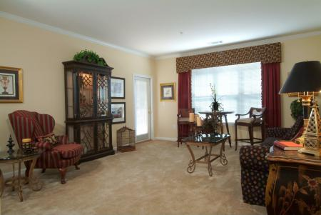 Living room at Colton Creek Apartments in McDonough, GA
