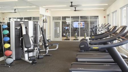 State-of-the-art fitness center with 24-hour access at Mave Apartments in Stoneham, MA