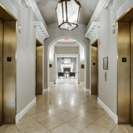 Elevators at Rienzi at Turtle Creek in Dallas, TX