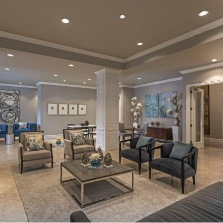 Community Room at Rienzi at Turtle Creek in Dallas, TX