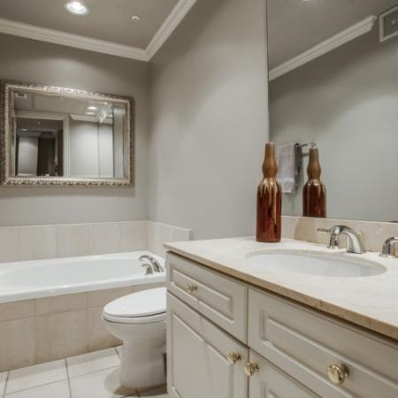 Bathroom-Rienzi at Turtle Creek in Dallas, TX
