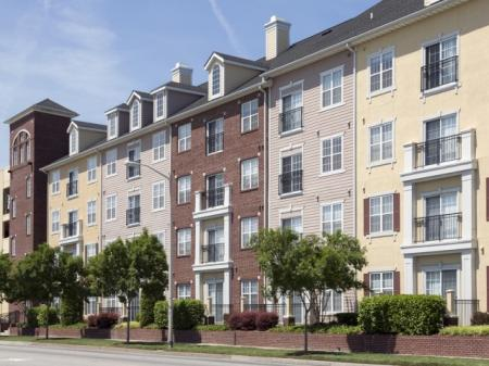Balconies on the Exterior Community Building at The Alexander at Ghent Apartment Homes in Norfolk, VA