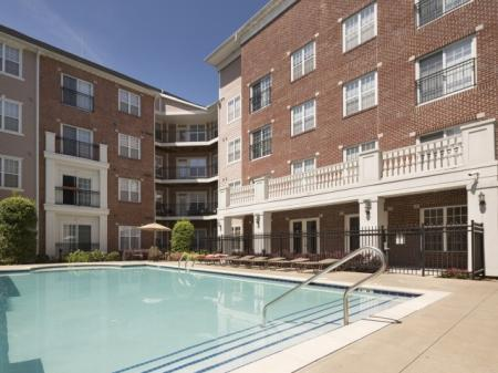 Swimming pool with Poolside WiFi at The Alexander at Ghent Apartment Homes in Norfolk, VA