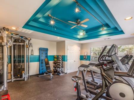 Fitness center at Middletown Brooke Apartments in Middletown, CT