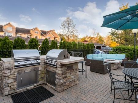 Outdoor grills at Grand Reserve Orange in Orange CT