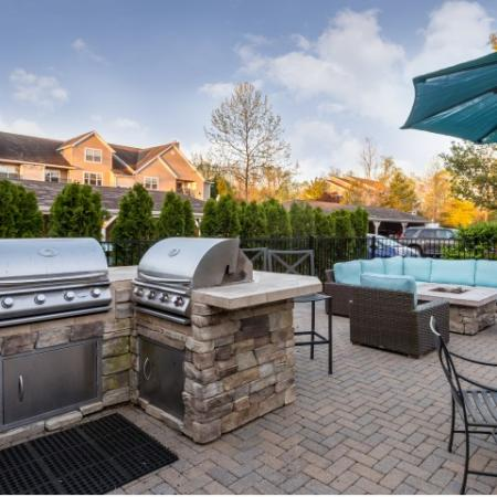 Outdoor grills at Grand Reserve Orange in Orange CT