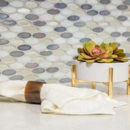 Tile Backsplash at Valentia Apartments in La Habra, CA