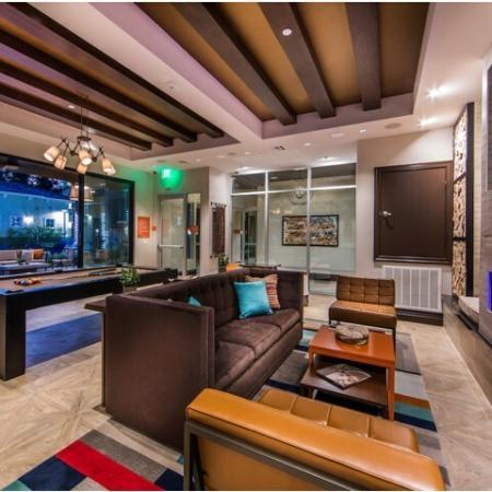 Social Lounge at Valentia Apartments in La Habra, CA