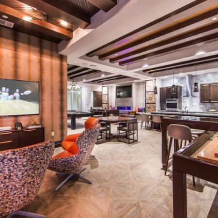 The Living Room at Valentia Apartments in La Habra, CA
