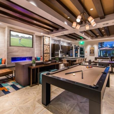 Indoor Games at Valentia Apartments in La Habra, CA
