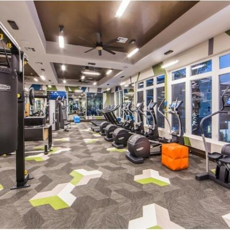 Fitness Center at Valentia Apartments in La Habra, CA