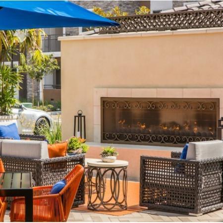 Fire Feature at Valentia Apartments in La Habra, CA