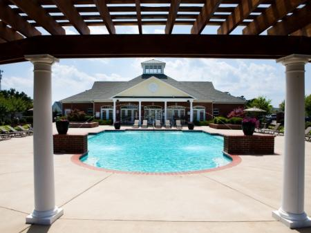 Large pool at The Belvedere Apartments in North Chesterfield, VA
