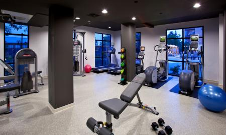 Fitness center at Carabella at Warner Center Apartments in Woodland Hills CA