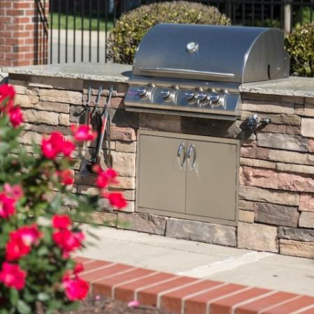 Outdor BBQ Grills at The Belvedere Apartments in Richmond, VA