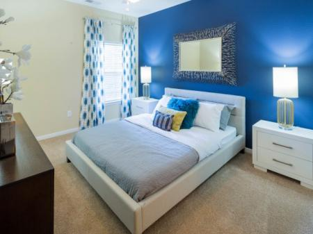 Bedroom at The Belvedere Apartments in Richmond, VA
