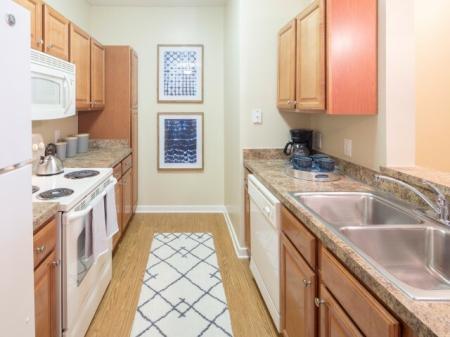 Kitchen at The Belvedere Apartments in Richmond, VA