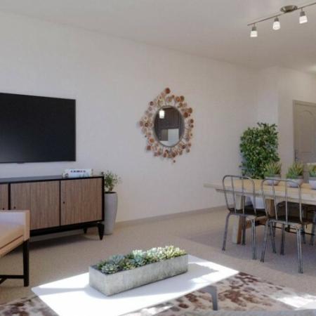 Living room at Andorra Apartments in Camarillo, CA