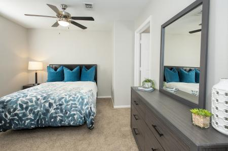 Renovated master suite at Bella Vista Apartments in Elk Grove CA
