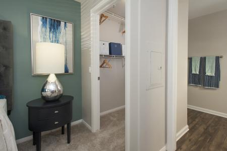 Walk-in closet at Bella Vista Apartments in Elk Grove CA