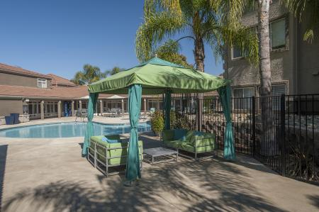 Open air cabana at Bella Vista Apartments in Elk Grove CA