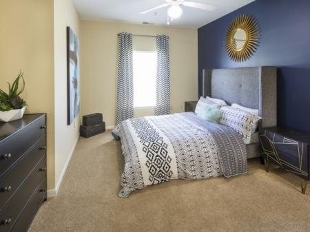 Master bedroom at River Forest apartments in Chester, VA