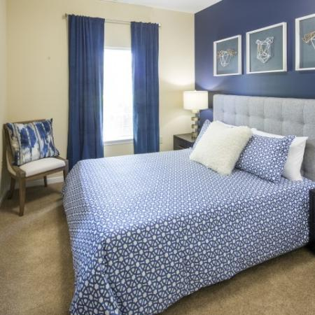 Bedroom at River Forest apartments in Chester, VA
