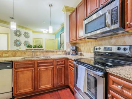 kitchen at Apartments at Arboretum in Cary NC