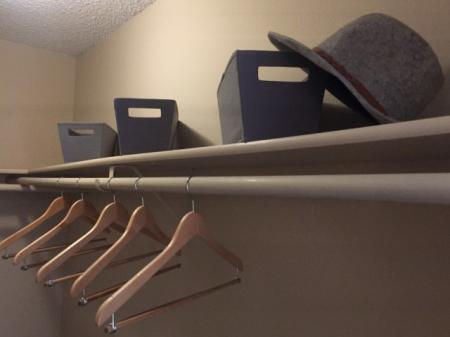 Closet at The Retreat at Maple Hill Apartments in Federal Way WA