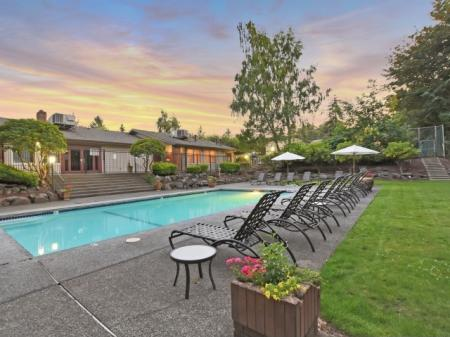 Pool at The Retreat at Maple Hill Apartments in Federal Way WA