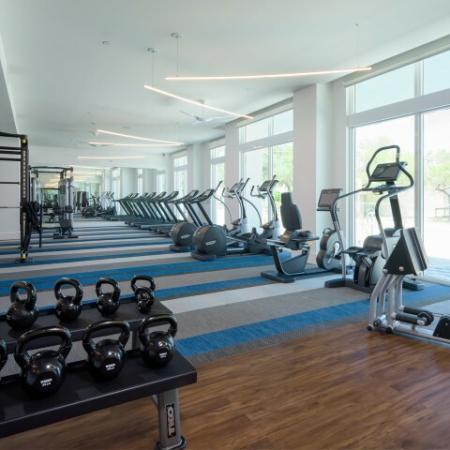 Fitness Center at ORA Flagler Village apartments in Fort Lauderdale, FL