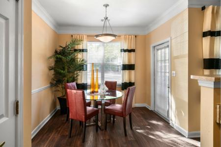 Beautiful dining room at River Pointe at Den Rock Park Apartments
