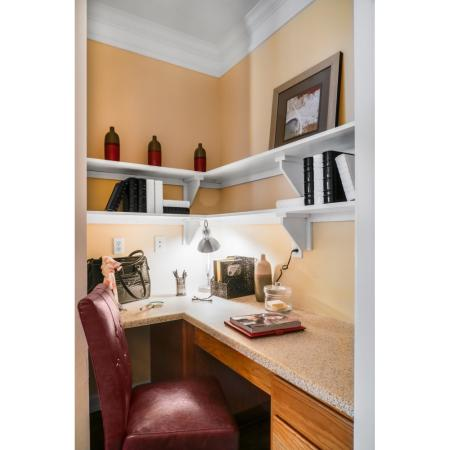 Office nook at River Pointe at Den Rock Park Apartments
