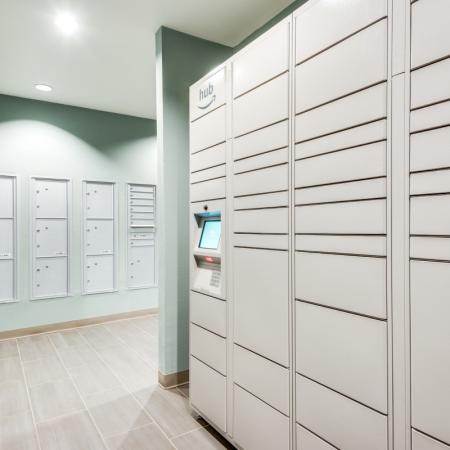Amazon Hub Lockers at Inwood Station Apartments in Dallas, TX