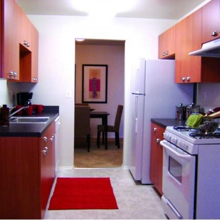 Kitchen at Oakfield Apartment Homes, 2335 Broad St, Durham, NC
