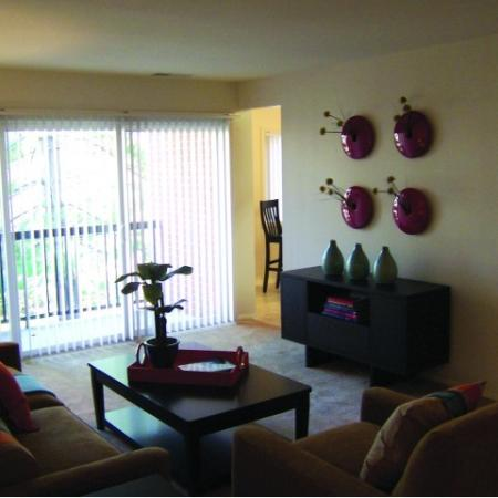 Living room at Oakfield Apartments in Silver Spring, MD