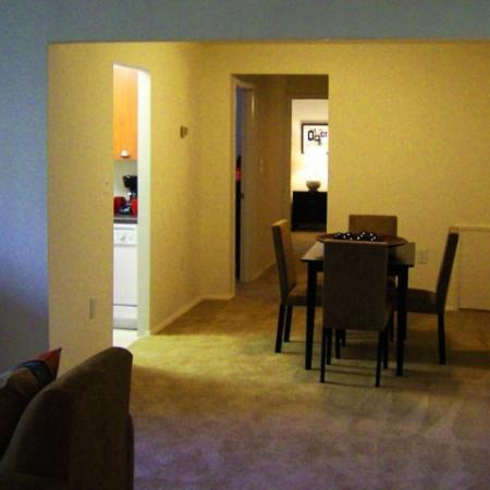 Dining room at Oakfield Apartments in Silver Spring, MD