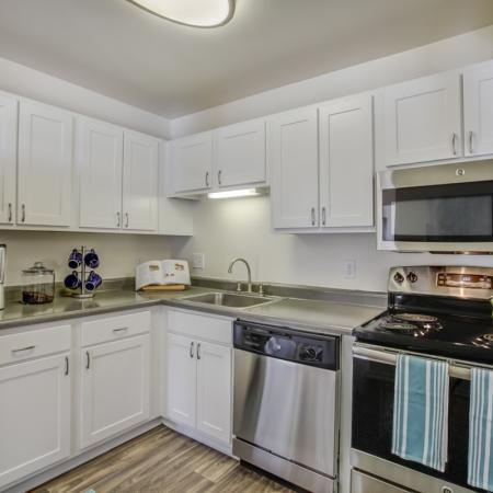 Kitchen at Arbor Landings apartments in Ann Arbor