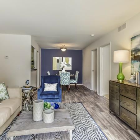 Wood style flooring at Arbor Landings Apartments in Ann Arbor, MI