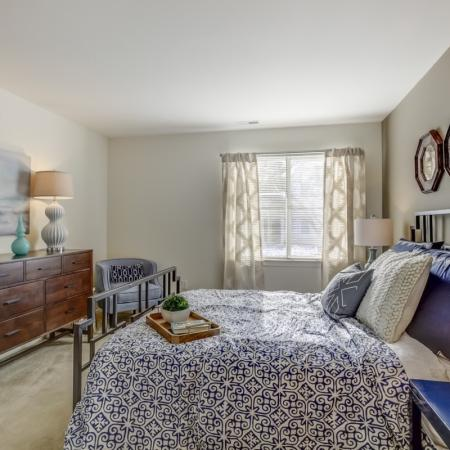 Light filled bedrooms at Arbor Landings Apartments in Ann Arbor, MI