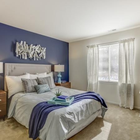 Spacious bedrooms at Arbor Landings Apartments in Ann Arbor, MI