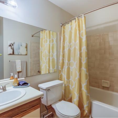Bathroom at Spring Valley Apartments in Farmington Hills, MI