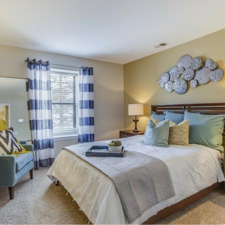 Bedroom at Spring Valley Apartments in Farmington Hills, MI