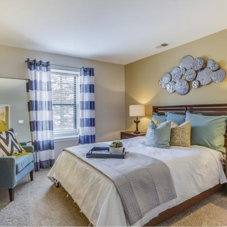 Bedroom at Spring Valley Apartments in Farmington Hills, MI