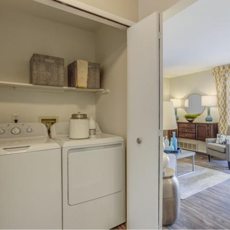 In-home washer and dryer at Spring Valley Apartments in Farmington Hills, MI