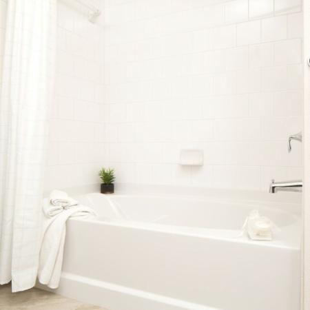 Bathroom at Andorra Apartments in Camarillo, CA
