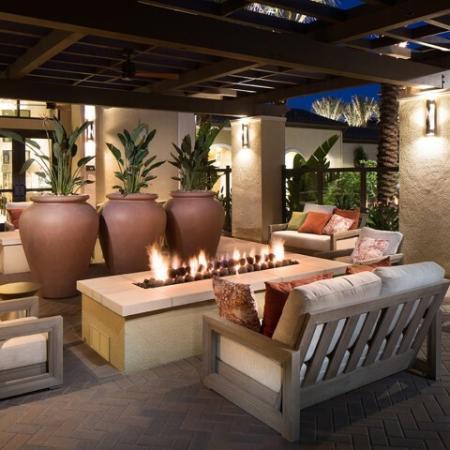 Outdoor seating at Andorra Apartments in Camarillo, CA