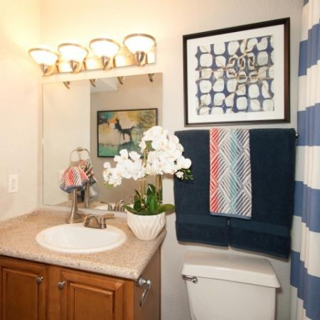 Guest bathroom at Reflections at the Lakes apartments in Las Vegas NV