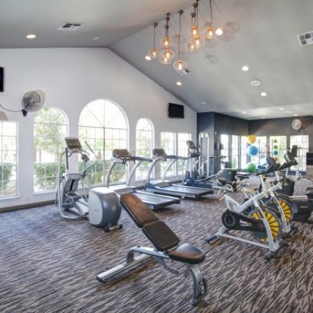Fitness center at Reflections at the Lakes Apartments in Las Vegas, NV